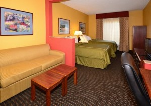 Comfort Suites two double beds